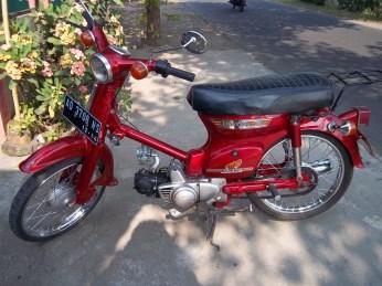Mirip seperti inilah kondisi Honda 70 saya dulu... sayang fotonya hilang bersama laptop saya dulu :(